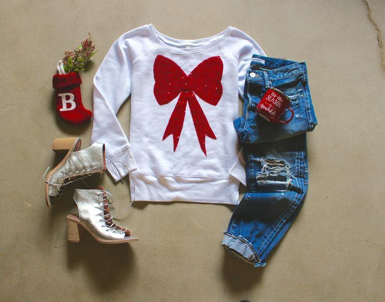 Gift Bow Sweatshirt - Shop Love and Bambii