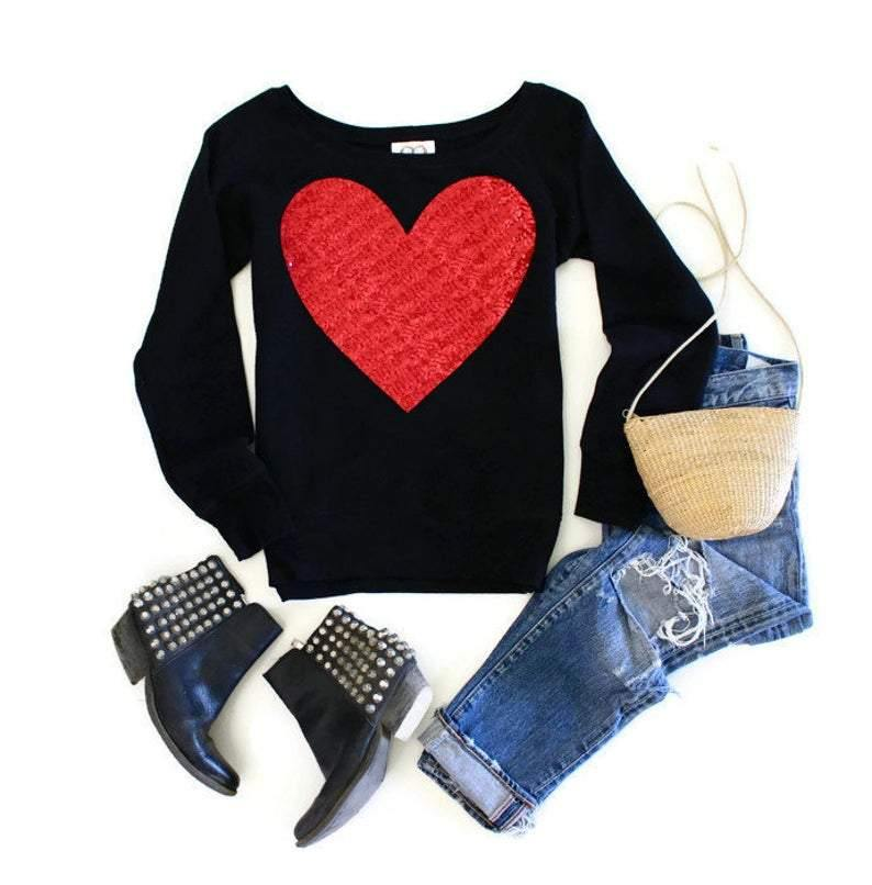 Classic Heart Sweatshirt - Shop Love and Bambii