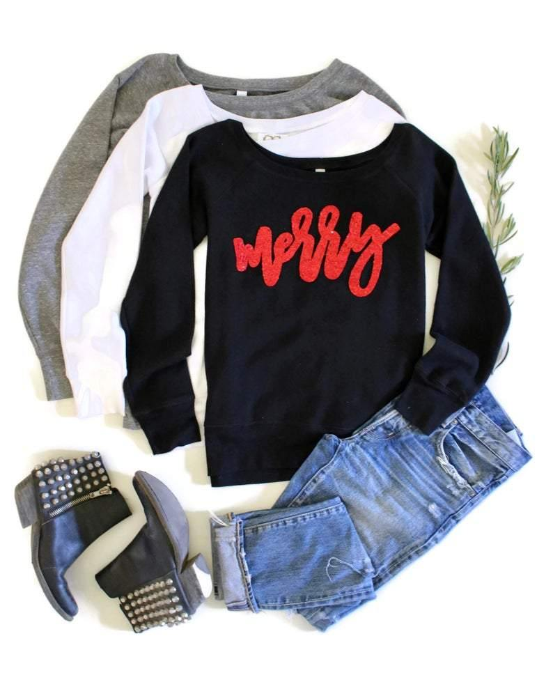 Merry Sweatshirt - Shop Love and Bambii