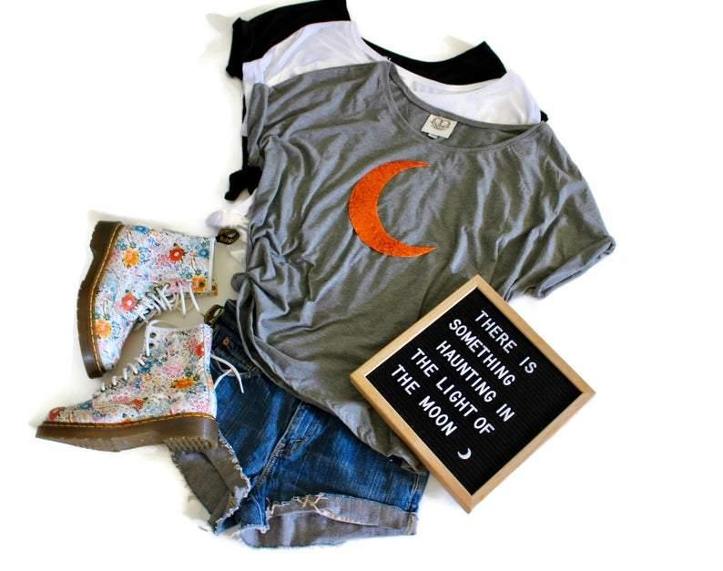 Crescent Moon Tee Shirt - Shop Love and Bambii