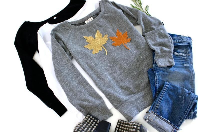 Fall Leaves Sweatshirt - Shop Love and Bambii