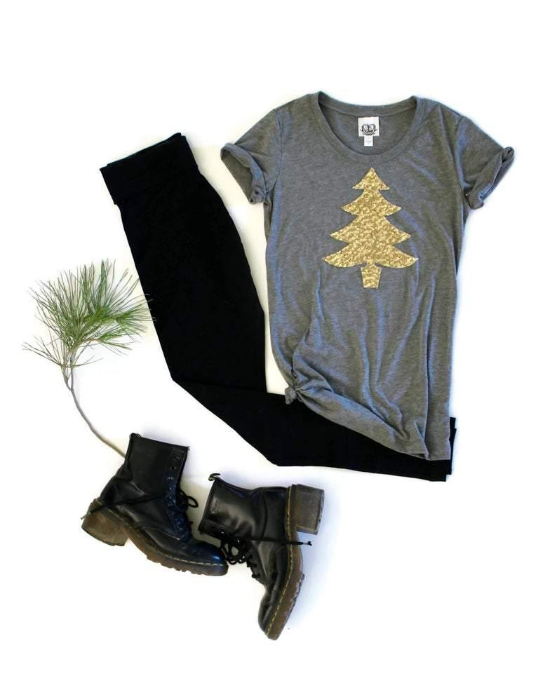 Christmas Tree Tee Shirt - Shop Love and Bambii