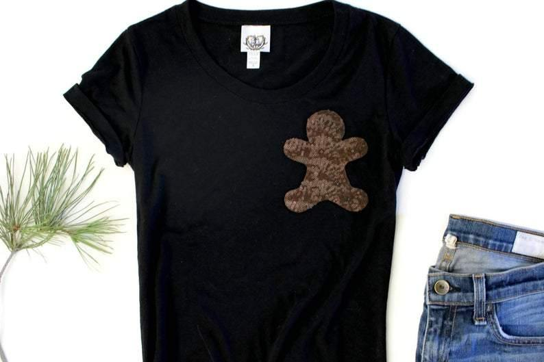 Gingerbread Person Pocket Tee Shirt