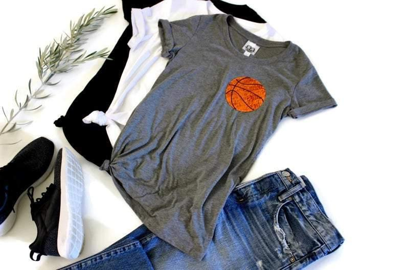 Basketball Pocket Tee Shirt - Shop Love and Bambii