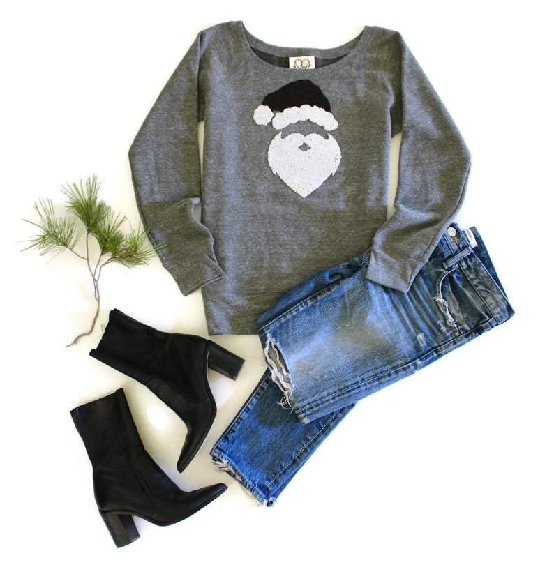 Santa Christmas Sweatshirt - Shop Love and Bambii