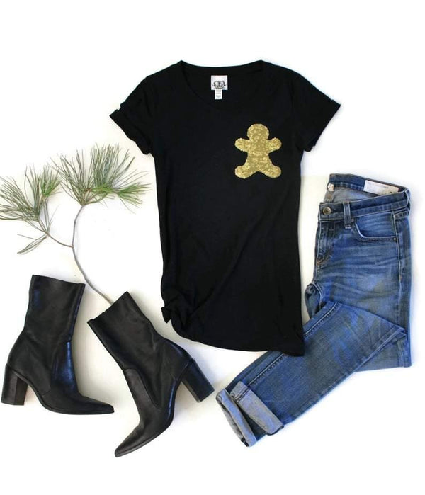 Gingerbread Pocket Tee Shirt - Shop Love and Bambii