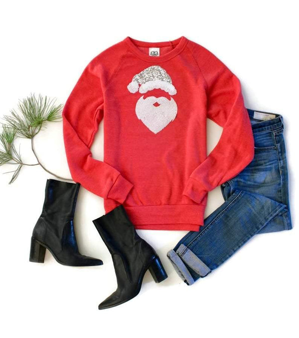 Santa Sweatshirt Crew Neck - Shop Love and Bambii