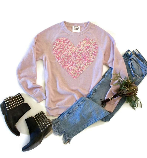Large Heart Sweatshirt - Shop Love and Bambii