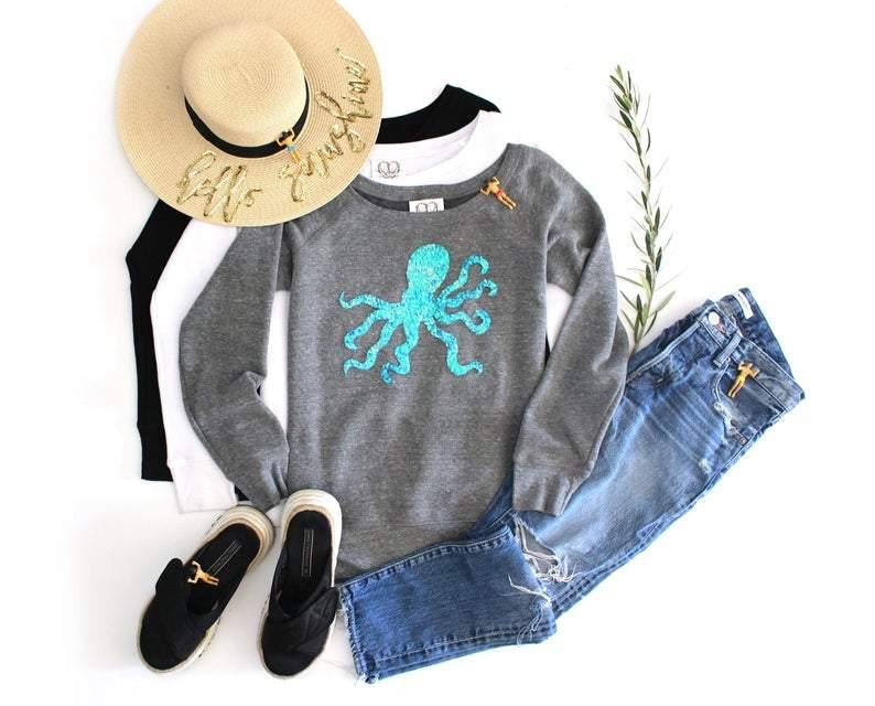 Octopus Sweatshirt - Shop Love and Bambii