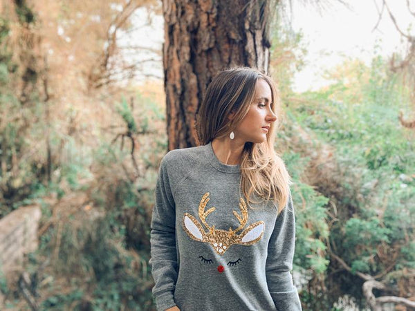 Rudolph Reindeer Sweatshirt - Shop Love and Bambii