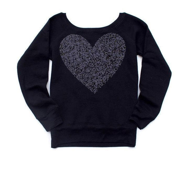Black Heart Sweatshirt - Shop Love and Bambii