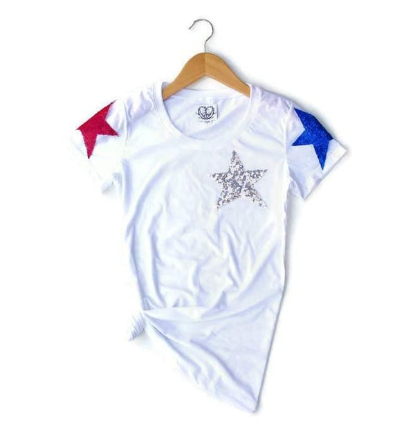 Shoulder Star Tee Shirt - Shop Love and Bambii
