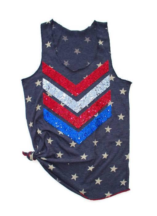 Patriotic Chevron Star Tank - Shop Love and Bambii