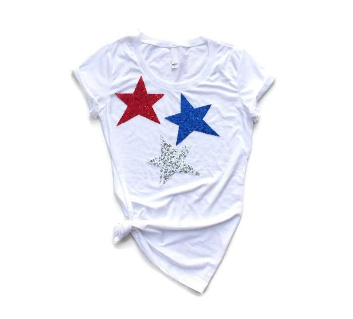 Triple Star Tee Shirt - Shop Love and Bambii