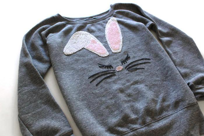 Bunny Face Sweatshirt - Shop Love and Bambii