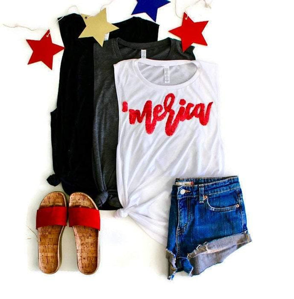 Merica Muscle Tank - Shop Love and Bambii