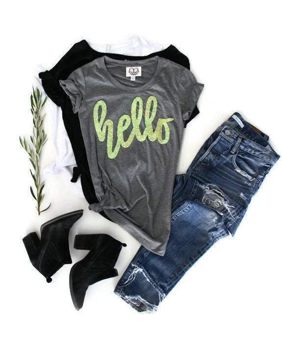 Hello Tee Shirt - Shop Love and Bambii