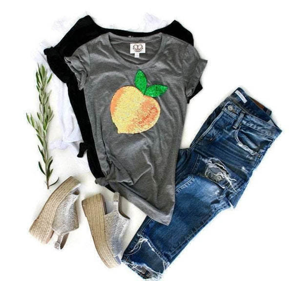 Peach Tee Shirt - Shop Love and Bambii