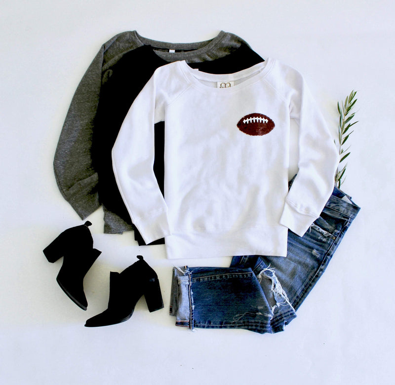 Football Pocket Sweatshirt - Shop Love and Bambii