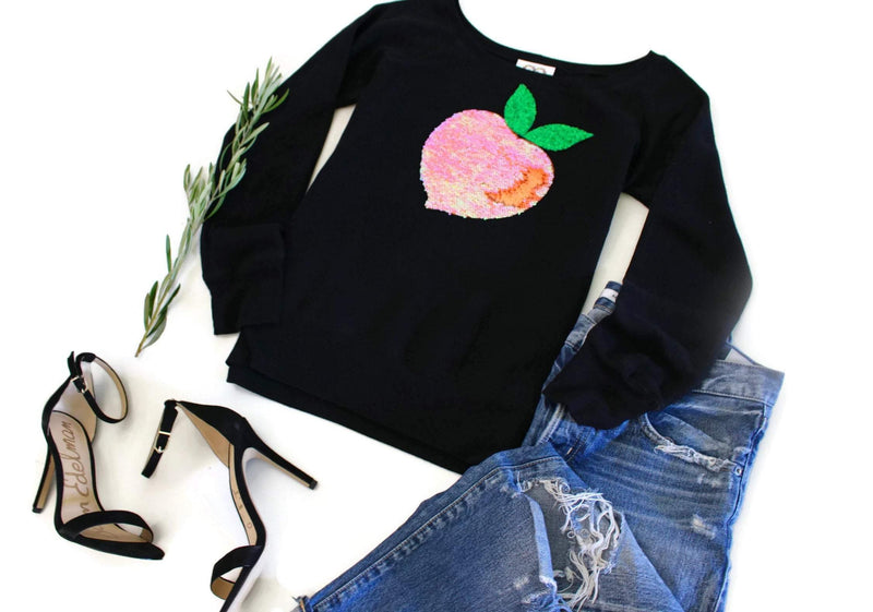 Peach Sweatshirt - Shop Love and Bambii