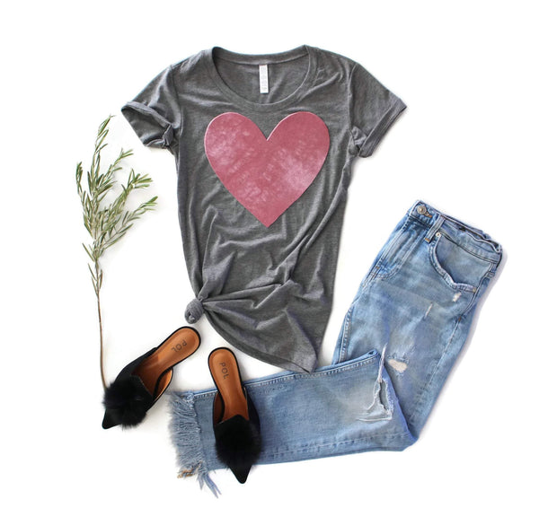 Velvet Heart Tee Shirt - Shop Love and Bambii