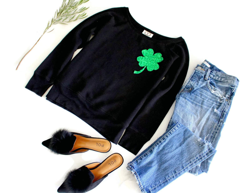 Shamrock Pocket Sweatshirt - Shop Love and Bambii
