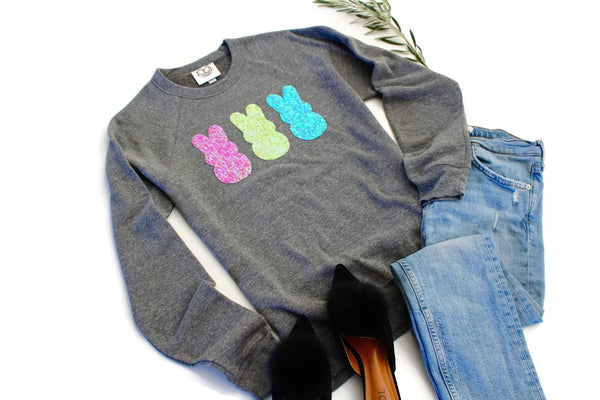 Grey Peeps Sweatshirt - Shop Love and Bambii