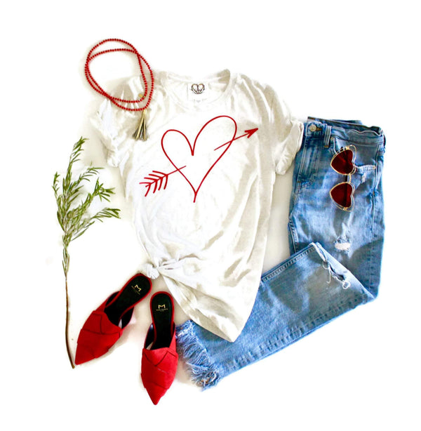 Cupids Heart Tee Shirt - Shop Love and Bambii