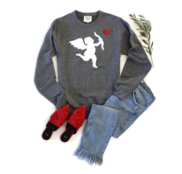 Cupid Arrow Sweatshirt - Shop Love and Bambii