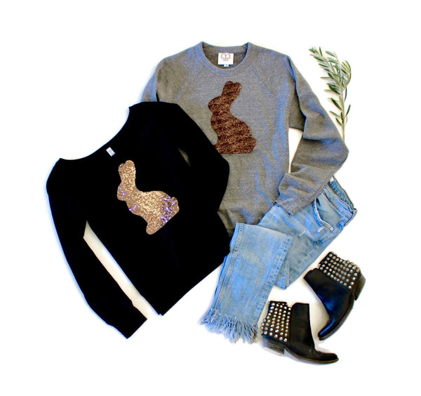 Chocolate Bunny Sweatshirt - Shop Love and Bambii