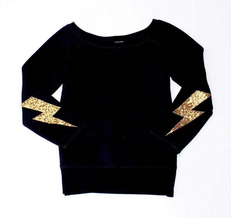 Lightning Bolt Elbow Patch Sweatshirt - Shop Love and Bambii