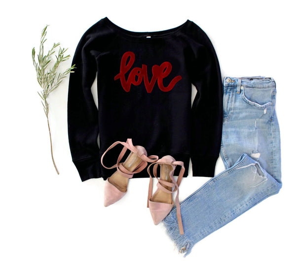 Velvet Love Sweatshirt - Shop Love and Bambii