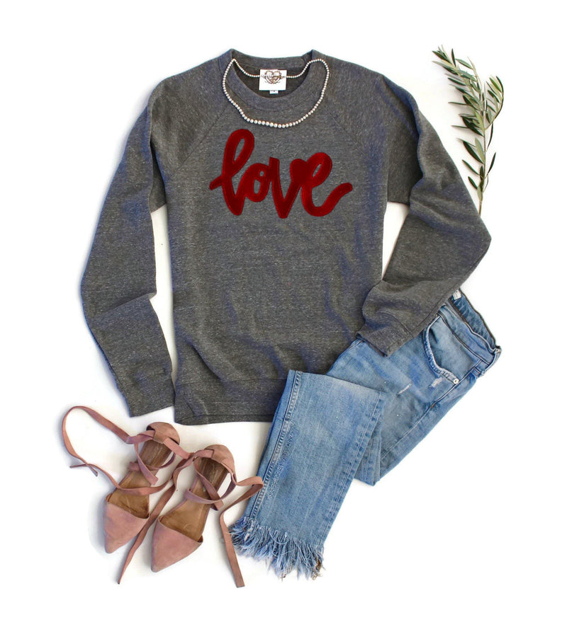 Velvet Love Pink Sweatshirt - Shop Love and Bambii
