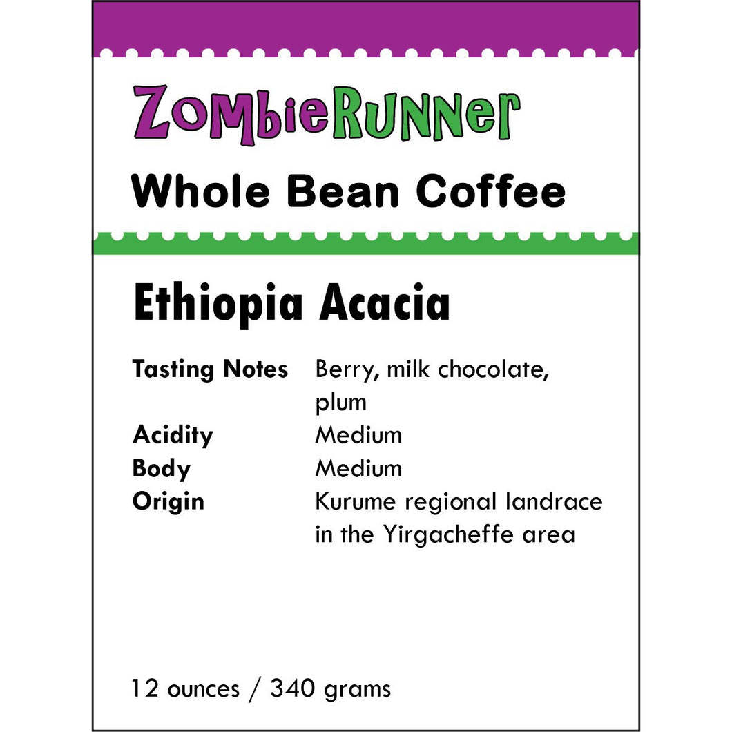 Whole Bean Coffee - Ethiopia Acacia (12 oz)