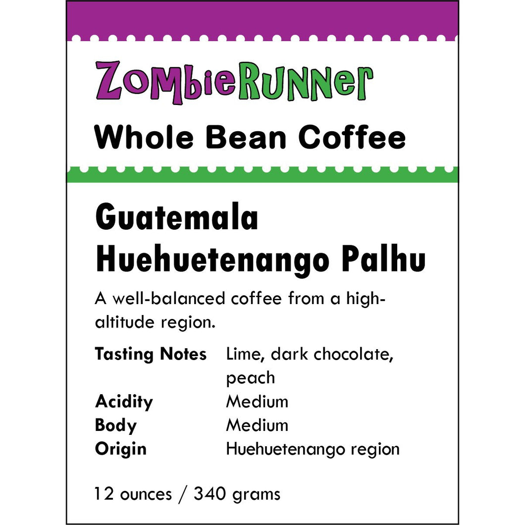 Whole Bean Coffee - Guatemala Huehuetenango Palhu (12 oz)