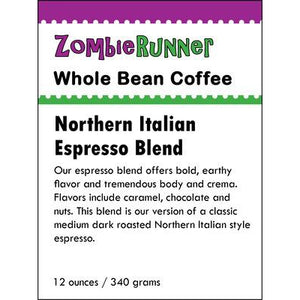 Whole Bean Coffee - Northern Italian Espresso Blend (12 oz)