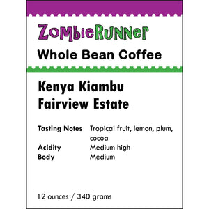 Whole Bean Coffee - Kenya Kiambu Fairview Estate (12 oz)