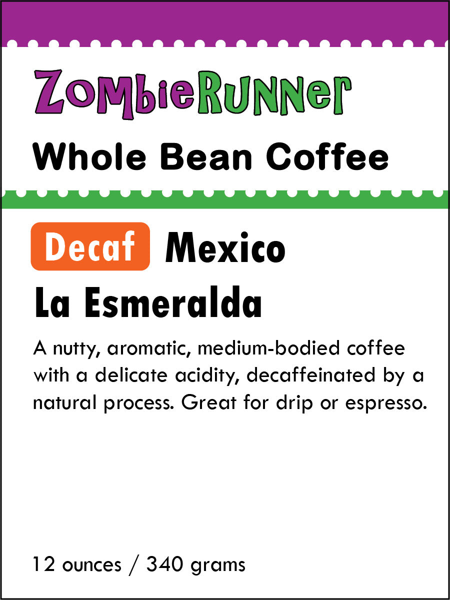 Whole Bean Coffee - Decaf Mexico La Esmeralda (12 oz)