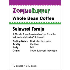 Whole Bean Coffee - Sulawesi Toraja (12 oz)