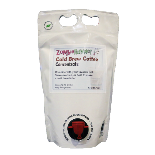 ZombieRunner Cold Brew Coffee Concentrate, 1.5L Pouch