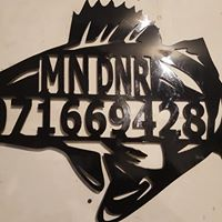 Custom DNR fish house numbers Mille Lacs weekend special