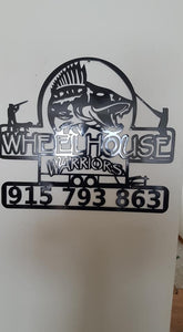 DNR Number Wheel House Warriors fish house