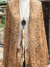 Load image into Gallery viewer, Tassel Necklace w/ Repurposed Louis Vuitton Charm