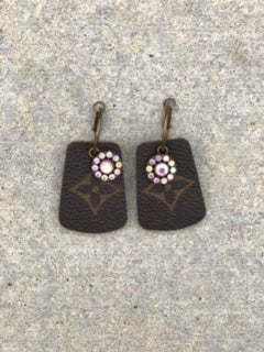 Repurposed Louis Vuitton Earrings