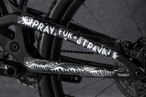 Non drive side chainstay image of Pray for Straya design