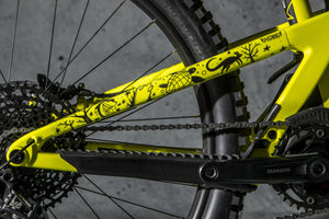 Drive side seatstay image of Pray for Straya design