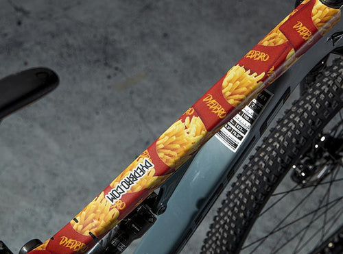 French Fries design by DYEDBRO top tube shot
