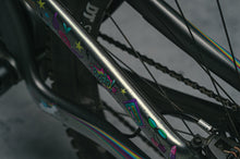 Load image into Gallery viewer, Unicorn Glitter design by DYEDBRO seatstay closeup