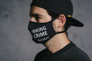 Face Mask - MTBNC by DYEDBRO left side view