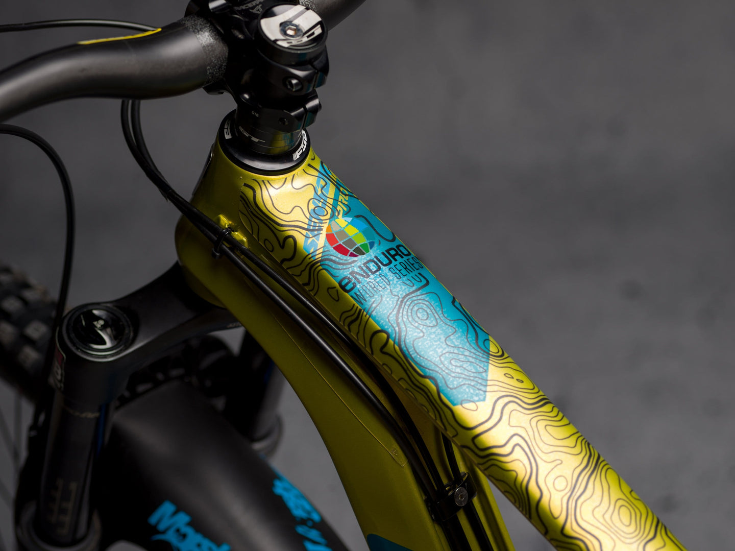 Enduro World Series in Black by DYDEDBRO top tube section shot